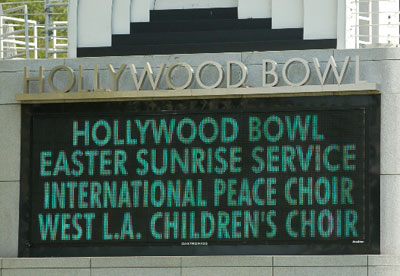 Marquee on Hollywood Bowl