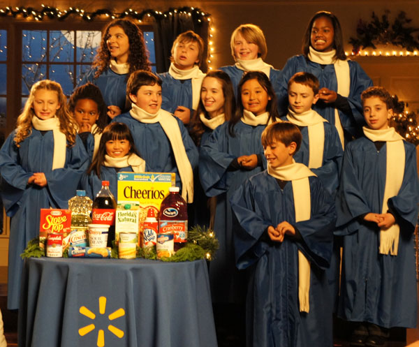 West Los Angeles Children's Choir shoots commercial for Walmart